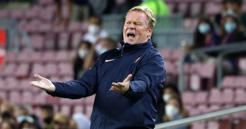 Barcelona coach Ronald Koeman reads out statement and then walks out of press conference