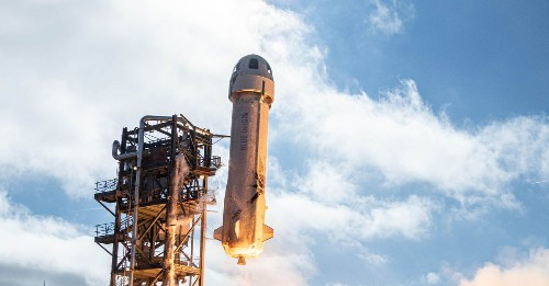 Blue Origin launches and lands a New Shepard rocket on its seventh trip to space