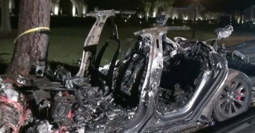 Two people killed in fiery Tesla crash with no one driving