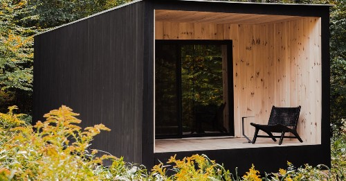 Modern cabin inspired by Thoreau
