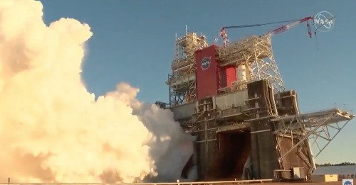 NASA's critical rocket test ends with a shutdown
