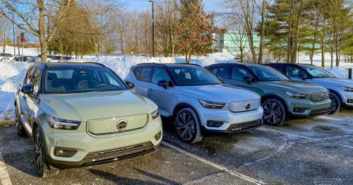 Volvo's first EV is stuck on cargo ships waiting for a software update