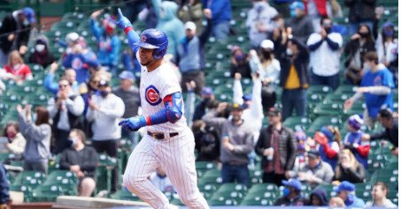 Cubs break out of offensive doldrums, hit six home runs in rout of Braves