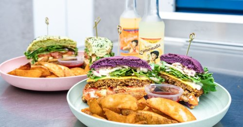 New Plant-Based Burger Spot Flower Burger Gets Colorful in the Heart of West Hollywood