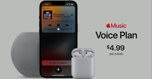 Apple Music's new voice-only plan costs $4.99 per month