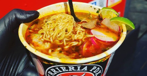 This East Portland Food Cart Is Serving Family-Recipe Birria with Ramen Noodles