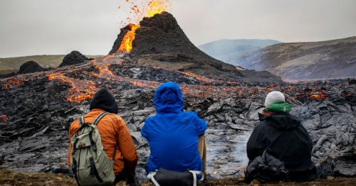 Watch this amazing footage of a drone flying right through an erupting volcano in Iceland