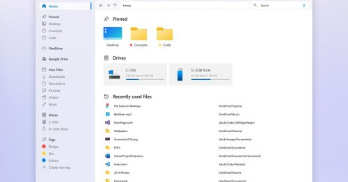 This is the best Windows File Explorer design concept I've ever seen