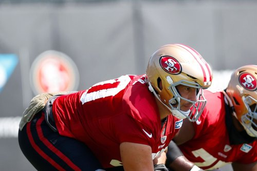 49ers training camp notes, Day 7: The offensive line dominates the first day of pads