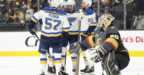 Golden Knights suffer 3-1 loss to Blues despite strong effort by Lehner