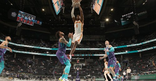 Hawks take possession of No. 4 after overcoming Hornets down the stretch