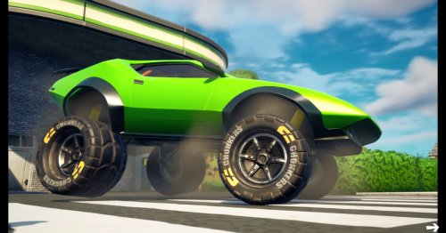 Fortnite's new update lets you turn any car into a monster truck