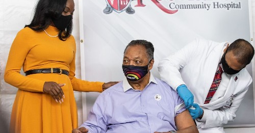 Black scientist who helped develop COVID-19 vaccine attends inoculation of Rev. Jesse Jackson