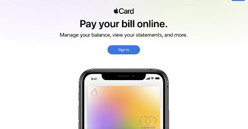 The Apple Card now has a website where you can pay your bills