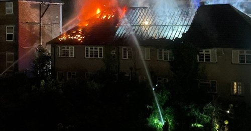 Man rescued from burning Croydon building as 60 firefighters battled fire