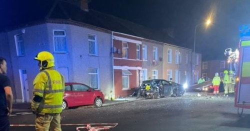 Family forced to move out after car ploughs into their Cardiff home