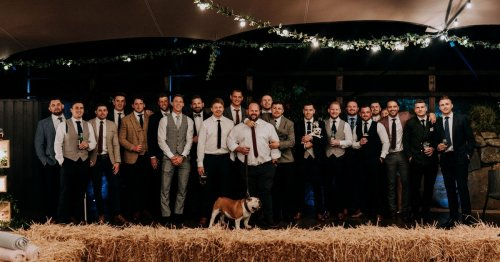 Wales rugby stars turn out for team-mate's stunning wedding