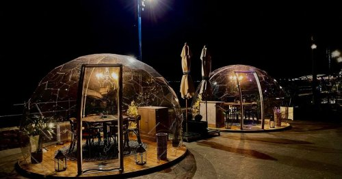 Stunning outdoor 'dining bubbles' have returned to Mumbles