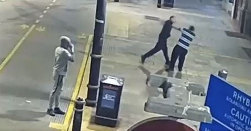 Thugs filmed beating man caught by facial recognition software