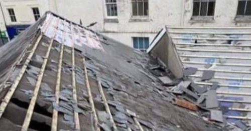 Photos show damage caused after teens were spotted on pub roof