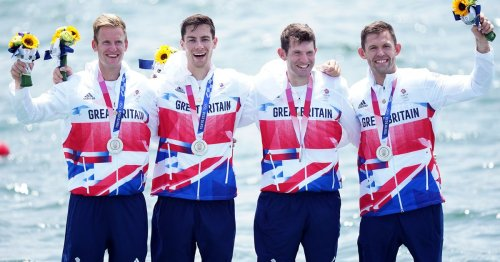 Great Britain won a surprise silver in the quadruple sculls