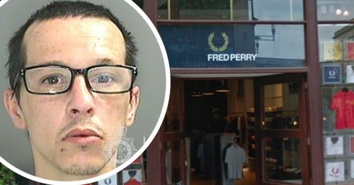 Burglar caught on CCTV trying to break into Fred Perry store