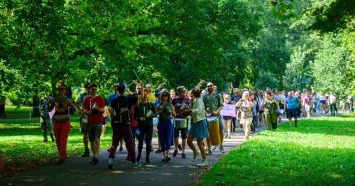 The best pictures as hundreds march to 'reclaim Bute Park' in Cardiff