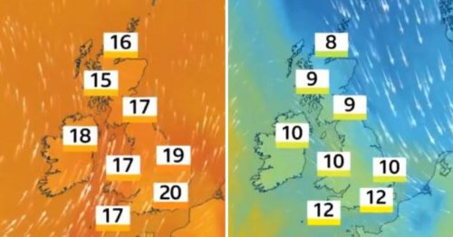Met Office predicts temperature plunge of nearly 10°C by Friday