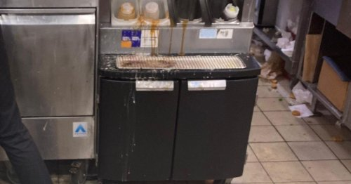 Furious nan shares pictures of filthy McDonald's