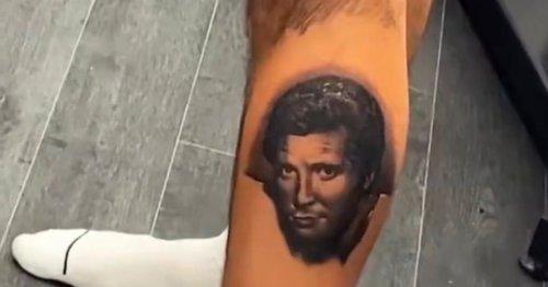 Love Island's Liam Reardon gets huge tattoo of ITV co star on leg