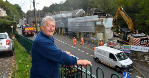 Heartbroken families watch as Wales' most polluted street destroyed