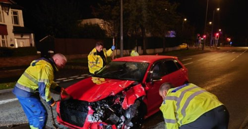 Police respond to drug-fuelled car crash in Cardiff