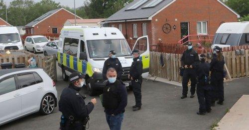 Three arrested at caravan park after massive police raid