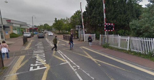Police Incident at railway crossing in Ammanford