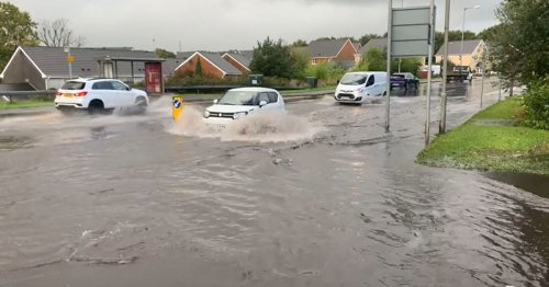 Abandoned cars, closed roads, and flooding after thunderstorms