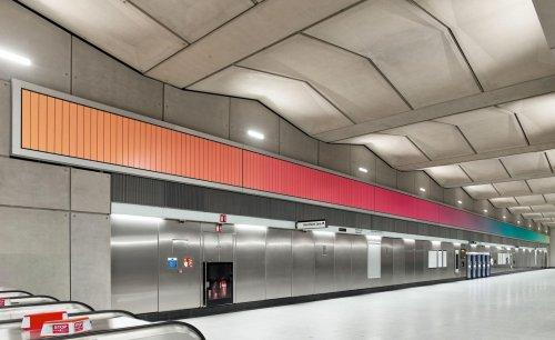 Alexandre da Cunha's vast kinetic art for Battersea Power Station Tube