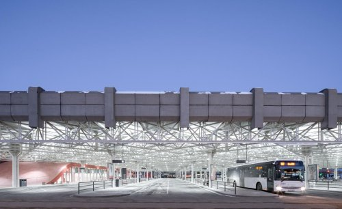 Brutalist bus terminal redesigned in the Czech Republic