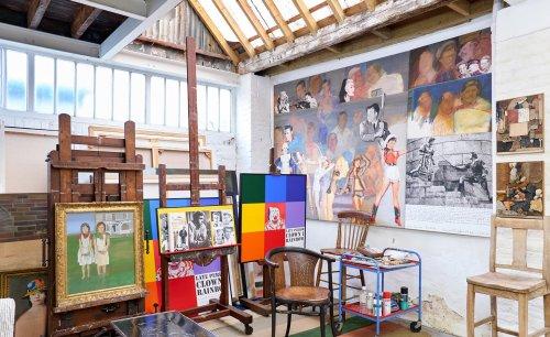 Inside pop art star Peter Blake's studio of curiosities