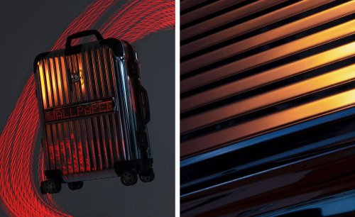 Travel light with Moncler and Rimowa's LED screen-emblazoned luggage