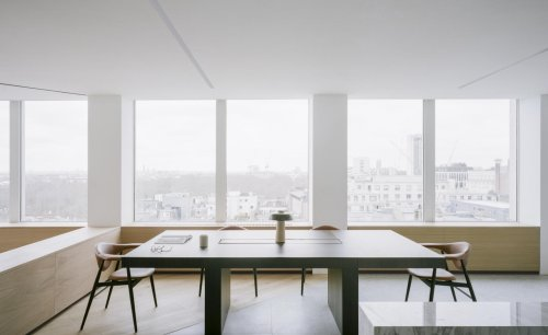 Minimalist office pops up at London brutalist icon the Smithson Tower