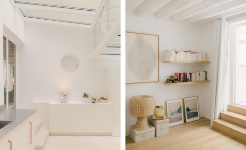 Historic Paris apartment gets wrapped in soft minimalism