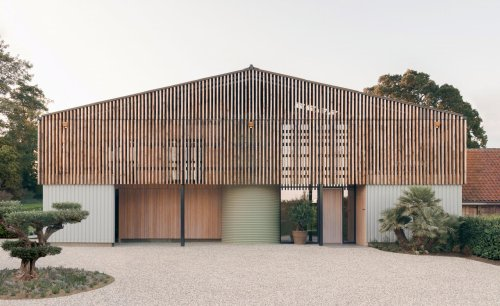 Disused industrial grain store transformed into Norfolk family home