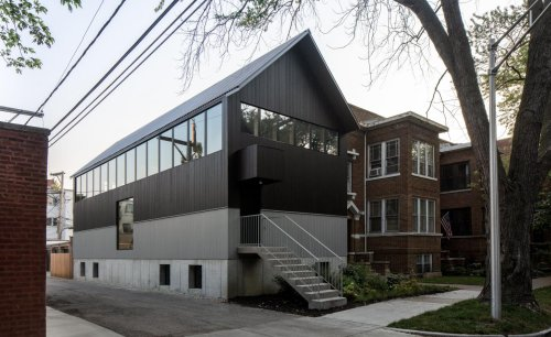 Chicago upside-down house turns convention on its head