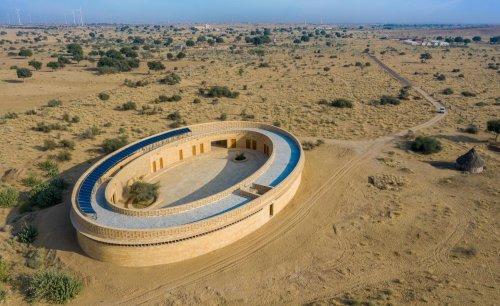 Sustainable school in rural India celebrates local sandstone