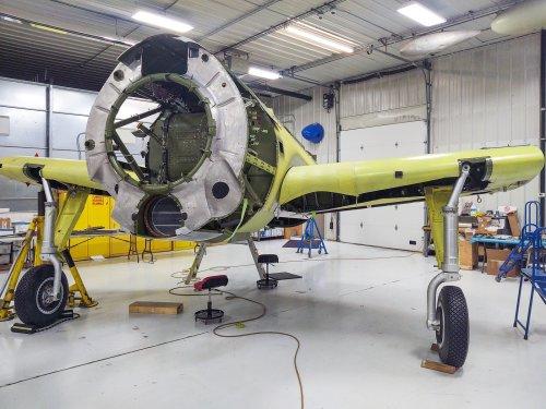 Fagen Fighters' Curtiss SB2C-5 Helldiver – Restoration Update – April, 2021