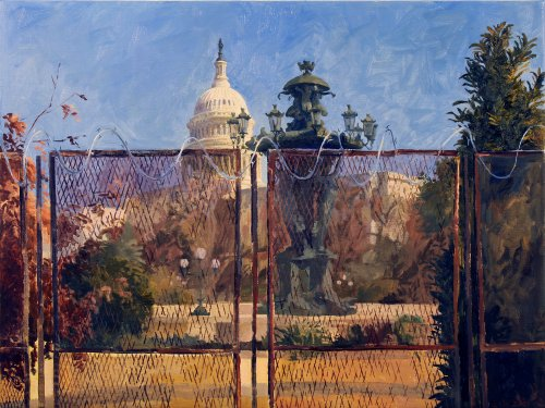 This Intriguing Series of Paintings Depicts the Capitol Fence | Washingtonian (DC)