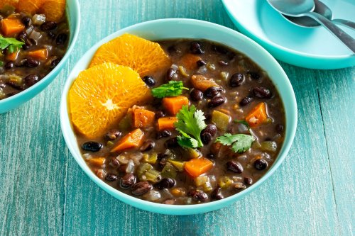 Vegan feijoada, with black beans and lots of smoky flavor, makes a hearty main