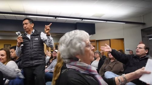 'Then why didn't you stay in Mexico?': A Latino dad was interrupted by a white man at meeting about racism in schools