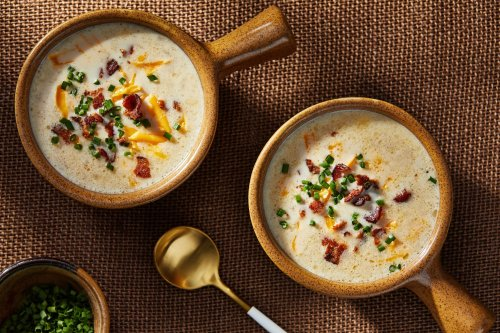 Loaded baked potato soup is the simple, luscious bowl of comfort I crave in colder months