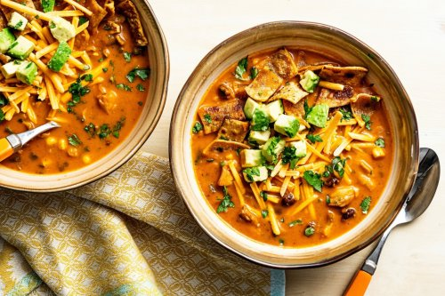 Mushroom and Black Bean Tortilla Soup - The Washington Post